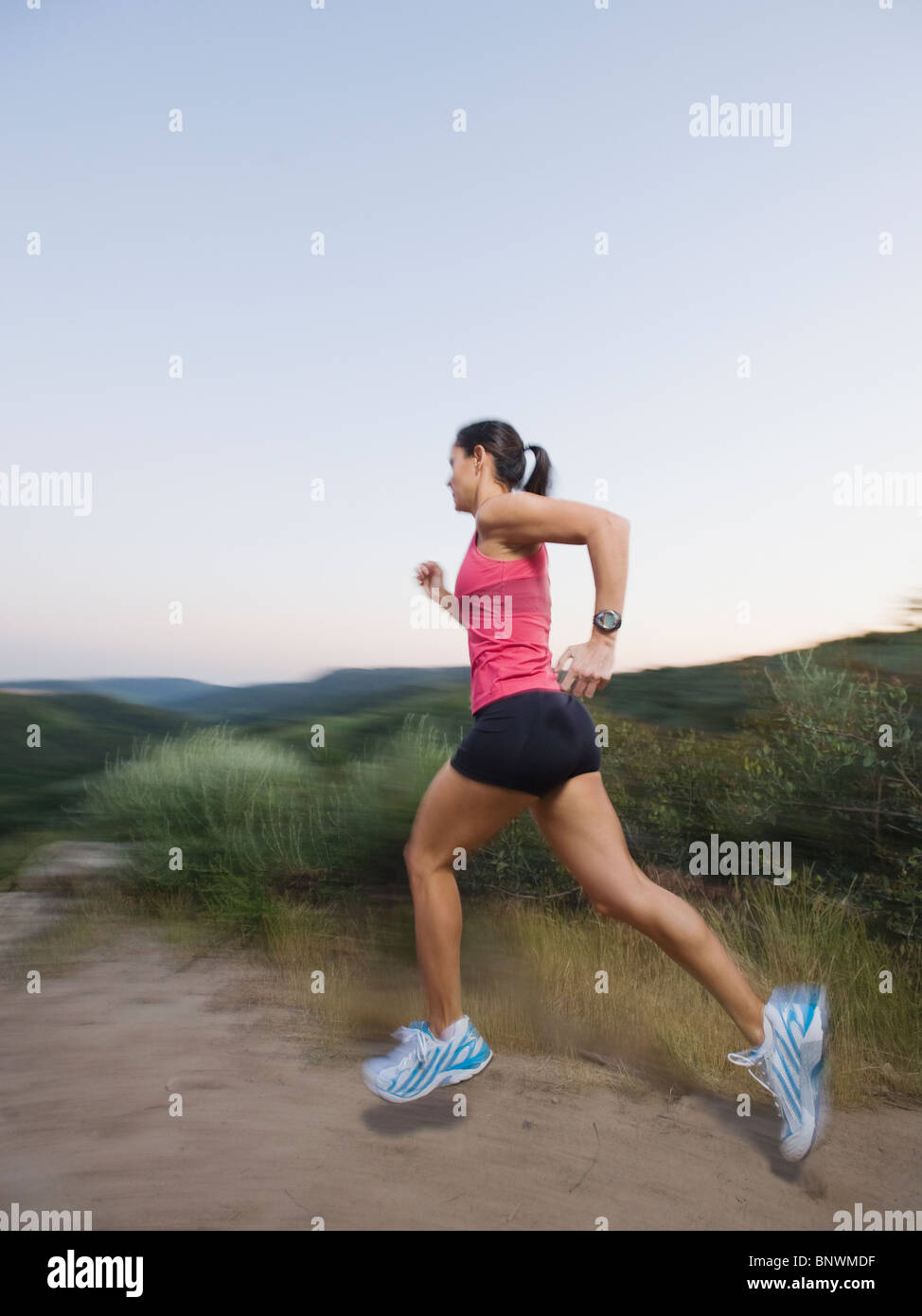 Trail runner - Stock Image