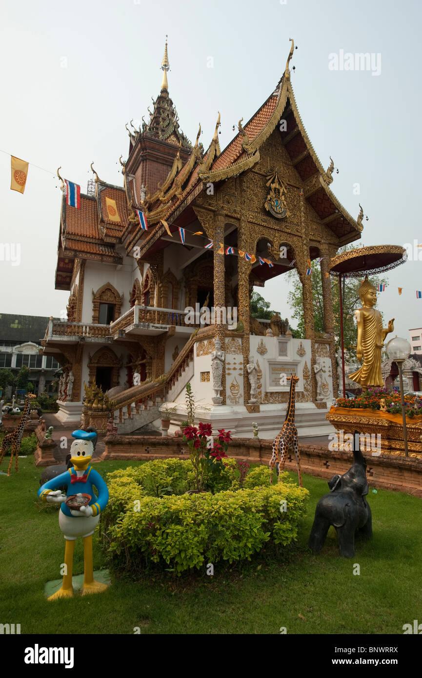 Wat Buppharam, Chiang Mai, Chiang Mai Province, Thailand, Asia Stock Photo