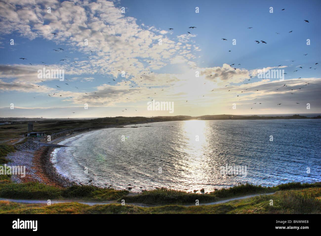 Pembroke Bay , north east coast, Guernsey, Channel Islands, UK, Europe Stock Photo