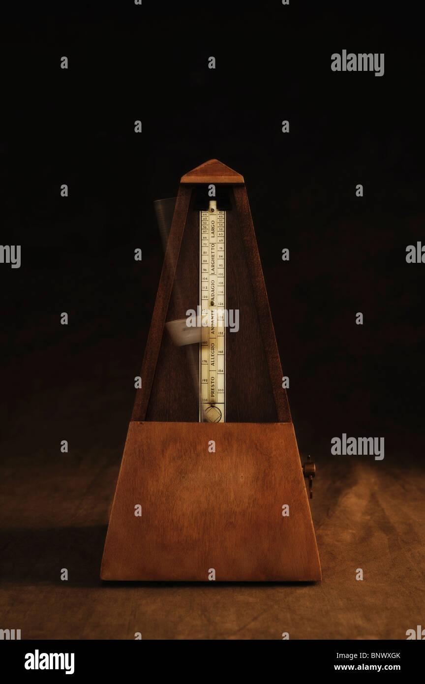 Antique metronome - Stock Image