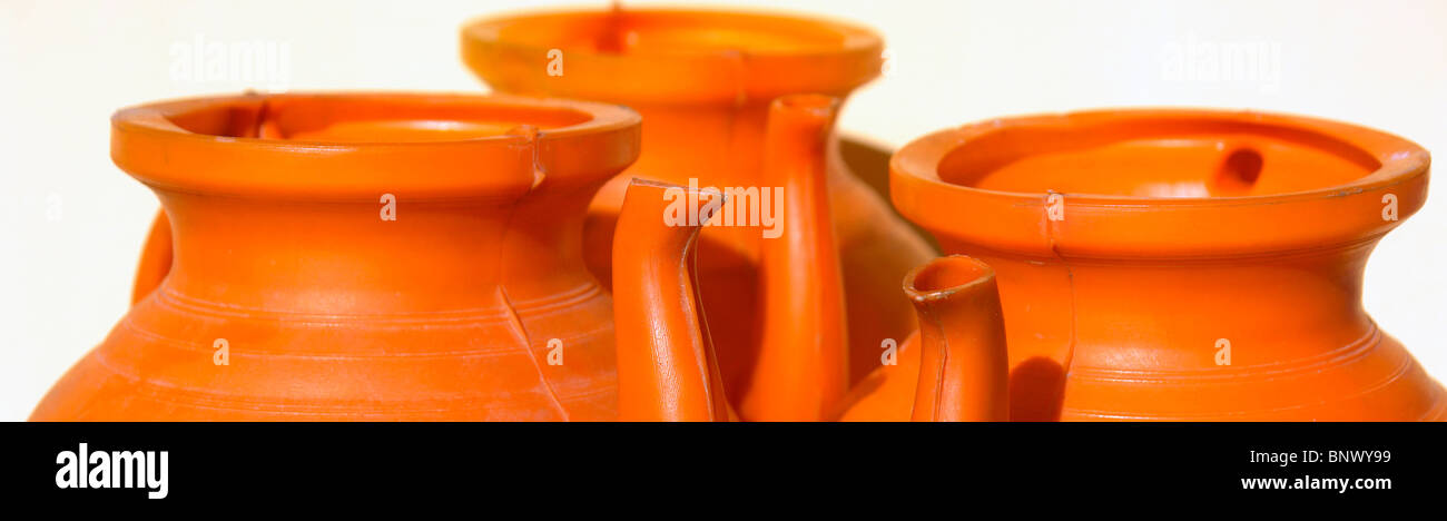 Clay pots - Stock Image