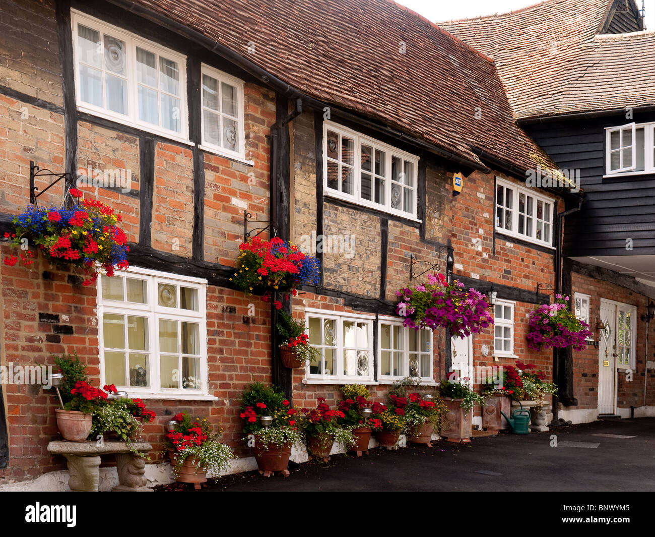 Mews Cottages in High Street,  Old Amersham, Bucks Stock Photo
