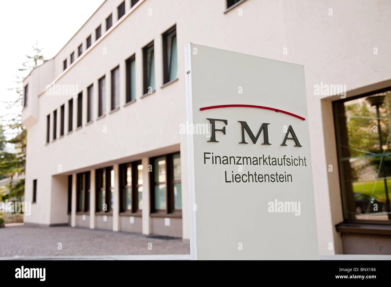 Finanzmarktaufsicht Liechtenstein ( FMA ), the financial market authority in VADUZ Stock Photo