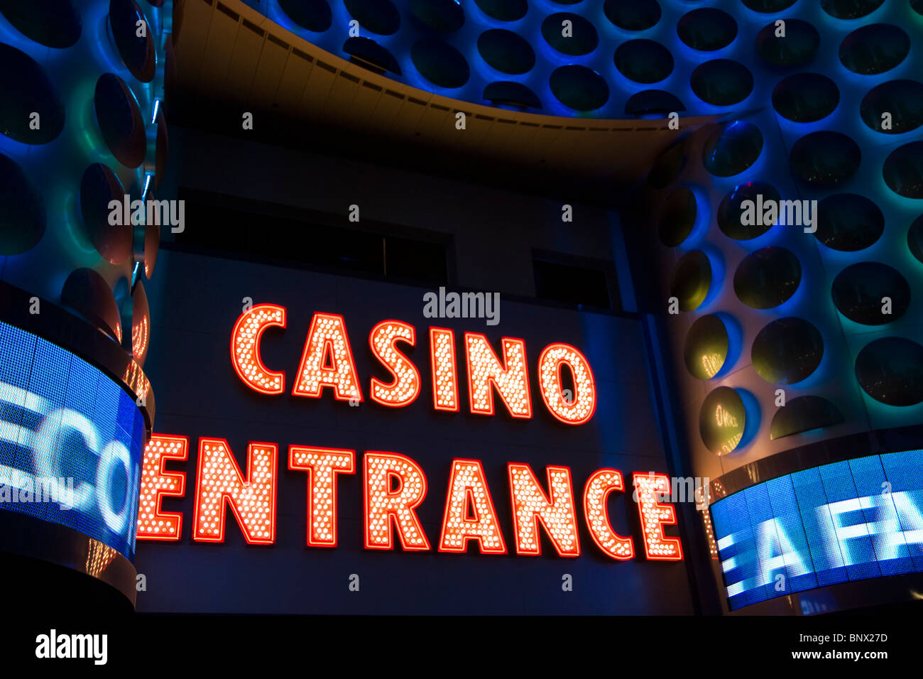 Las Vegas Sign on the strip of the syn city - Stock Image