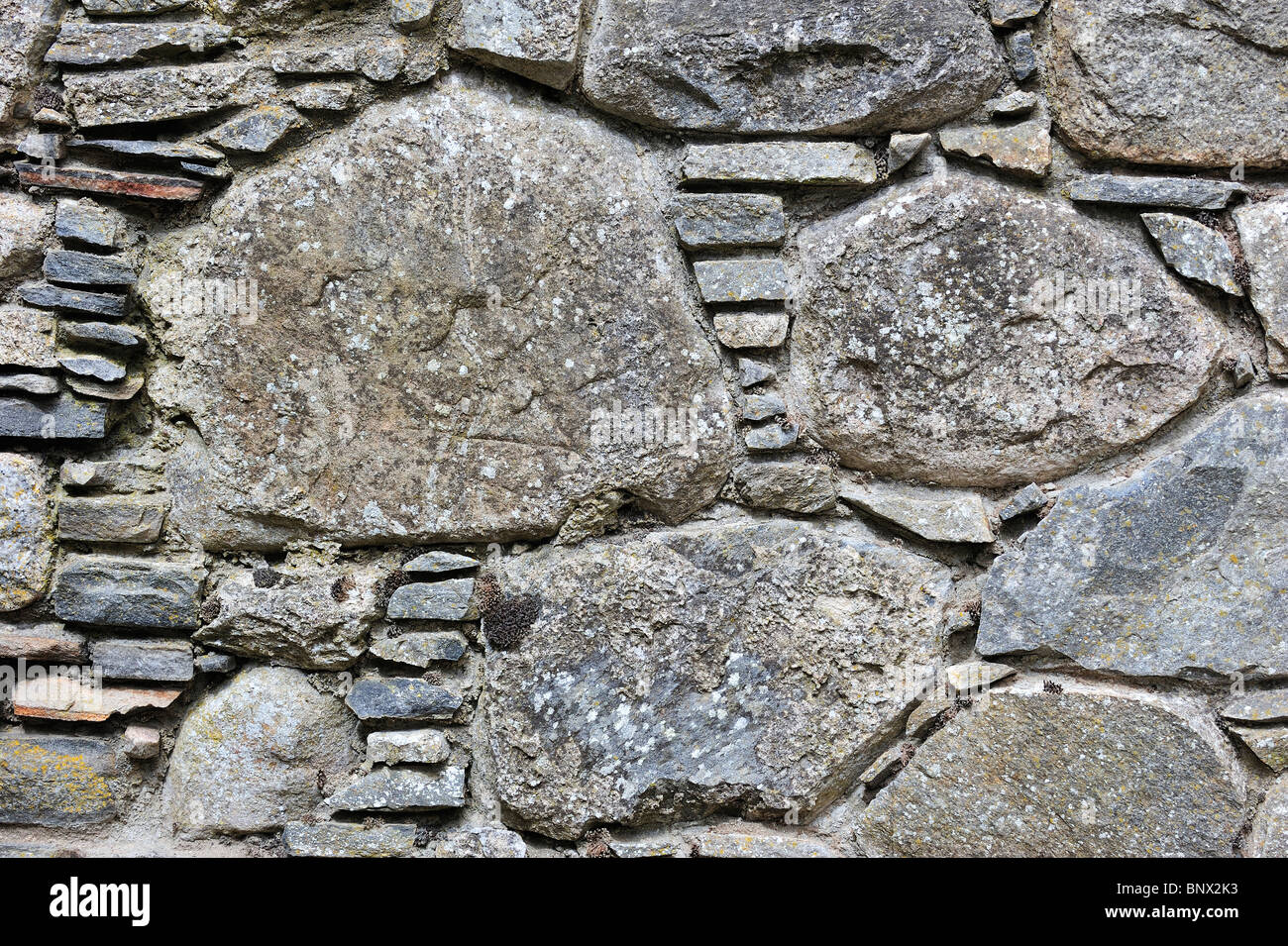 Detail of masonry in the ruins of Ruthven barracks, built in 1719 after the 1715 Jacobite rising, near Kingussie - Stock Image