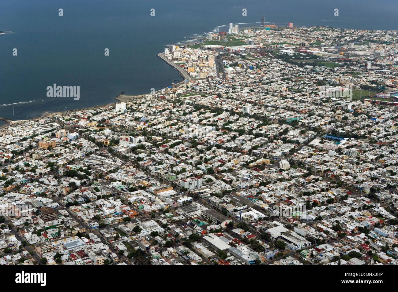 aerial view above Veracruz Mexico - Stock Image
