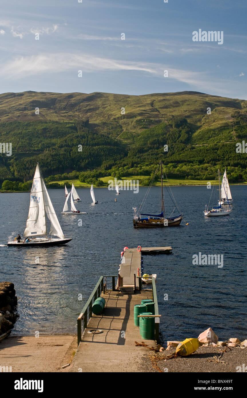 Sailing on Loch Leven, Ballachulish, Glencoe,  Inverness-shire, Highland Region. Scotland. - Stock Image