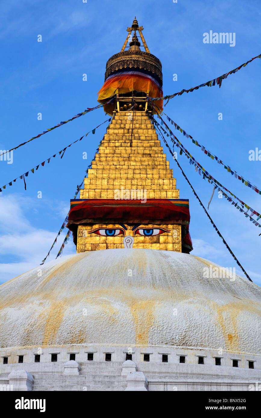 Nepal - Kathmandu - Bodhnath stupa - Stock Image