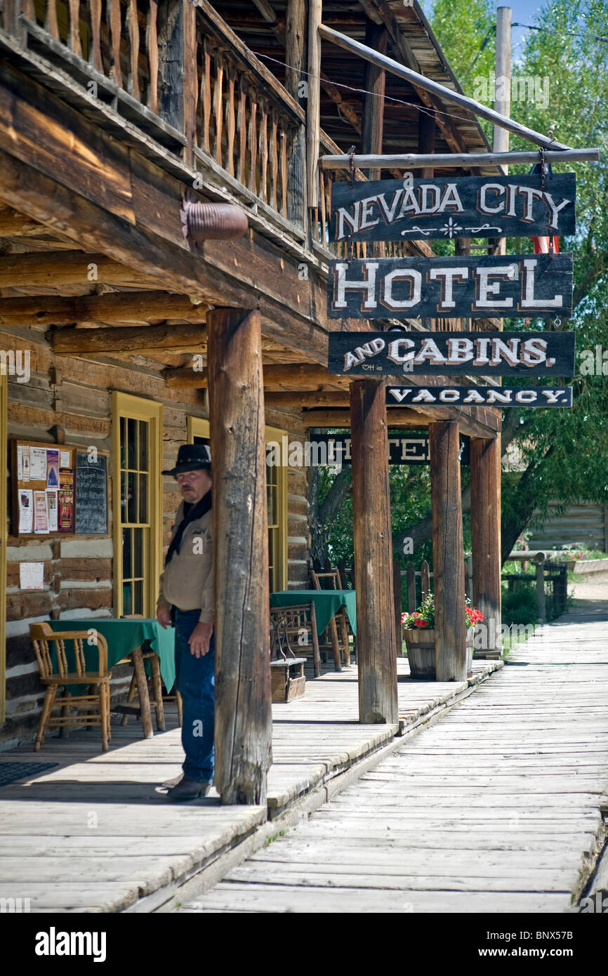 Nevada City Montana Ghost Town Museum Stock Photo Alamy