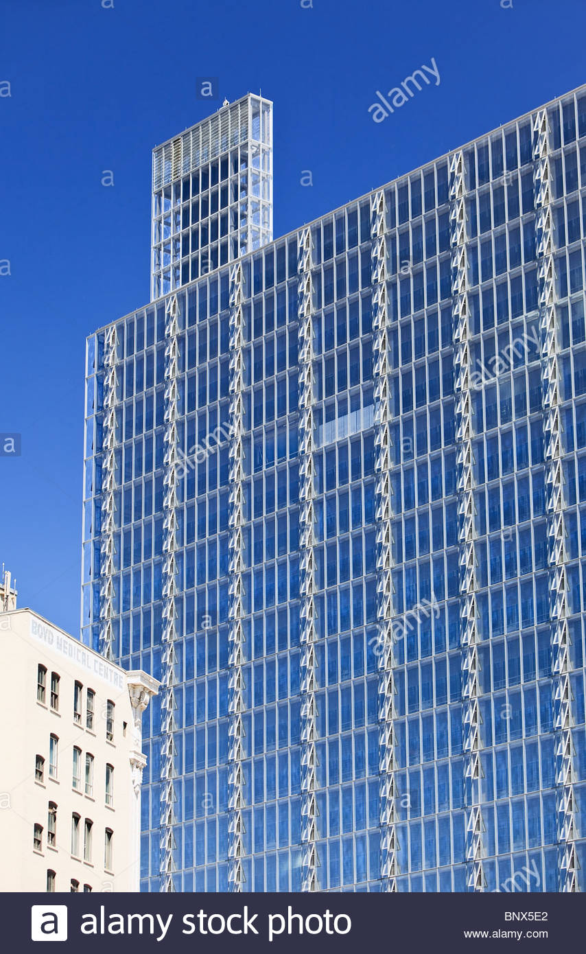 Manitoba Hydro office tower, Winnipeg, Manitoba, Canada - Stock Image