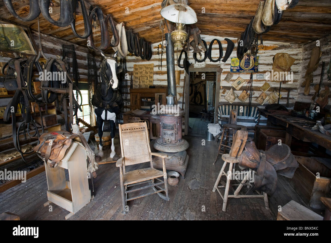 Nevada City Montana Ghost Town Museum Outdoors Stock Photo Alamy