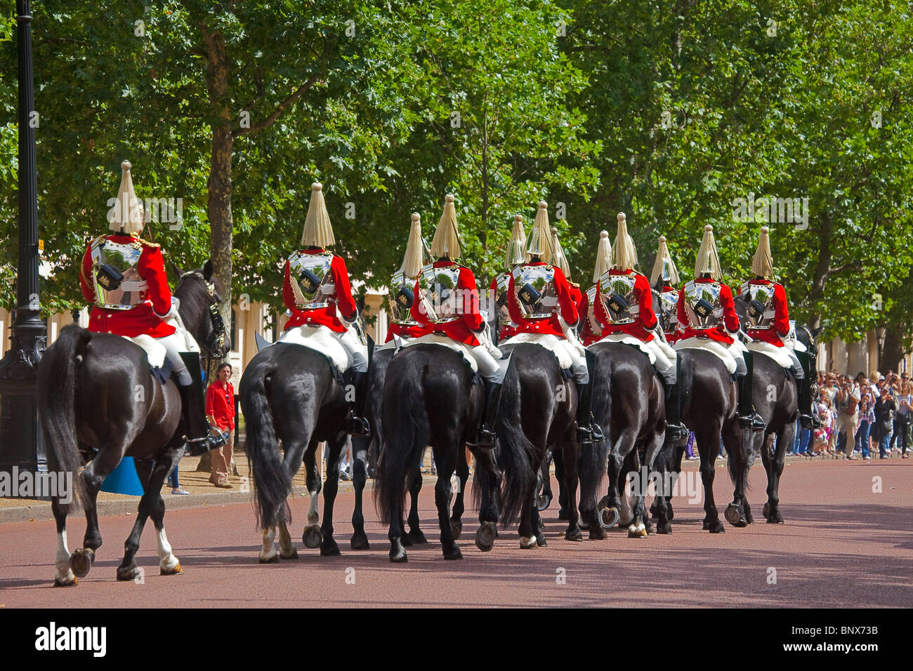 London Life Guards in the Mall July 2010 - Stock Image