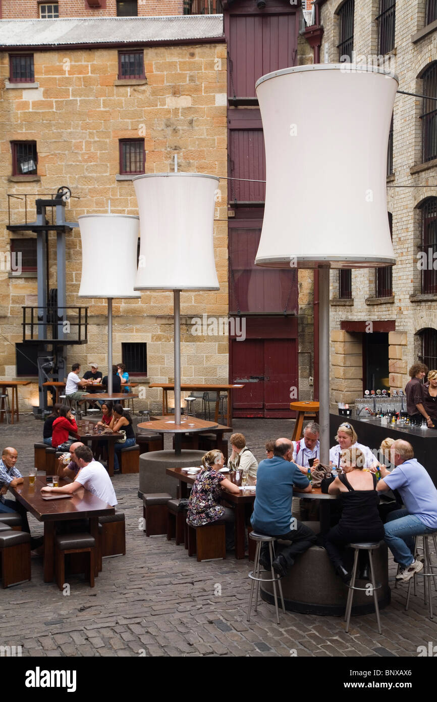 The courtyard bar at The Argyle in The Rocks district. Sydney, New South Wales, AUSTRALIA - Stock Image