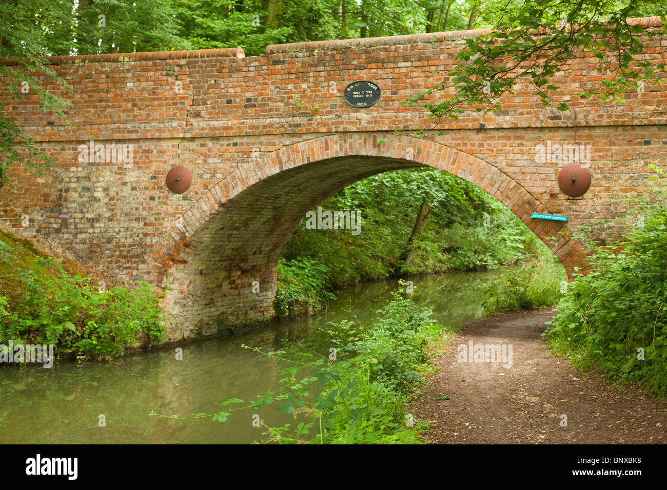 The Basingstoke Canal, near Dogmersfield, Hampshire, England - Stock Image