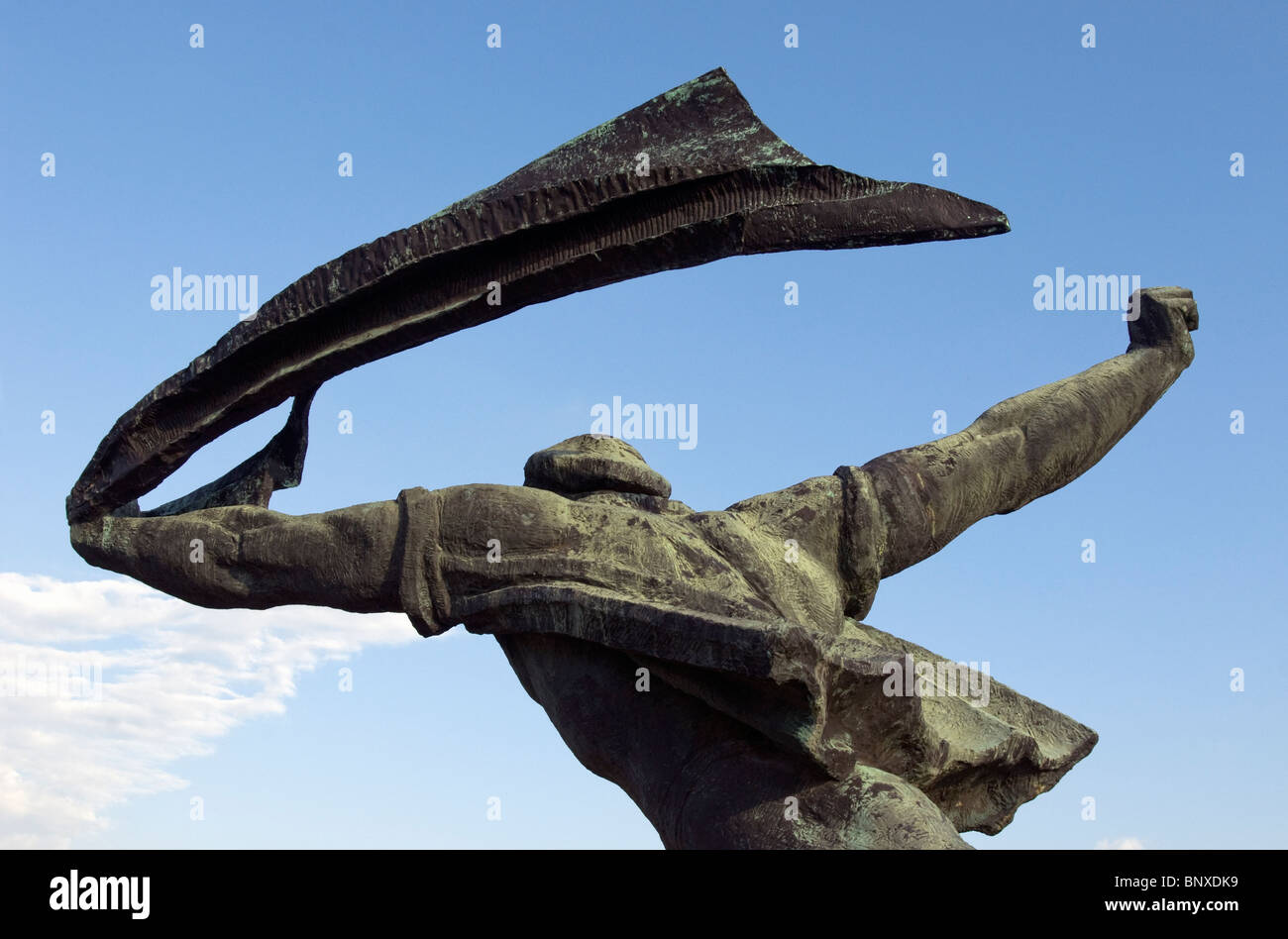 Republic of Councils Monument by Istvan Kiss, Statue (or Memento) Park (Szoborpark) in Budapest, Hungary - Stock Image