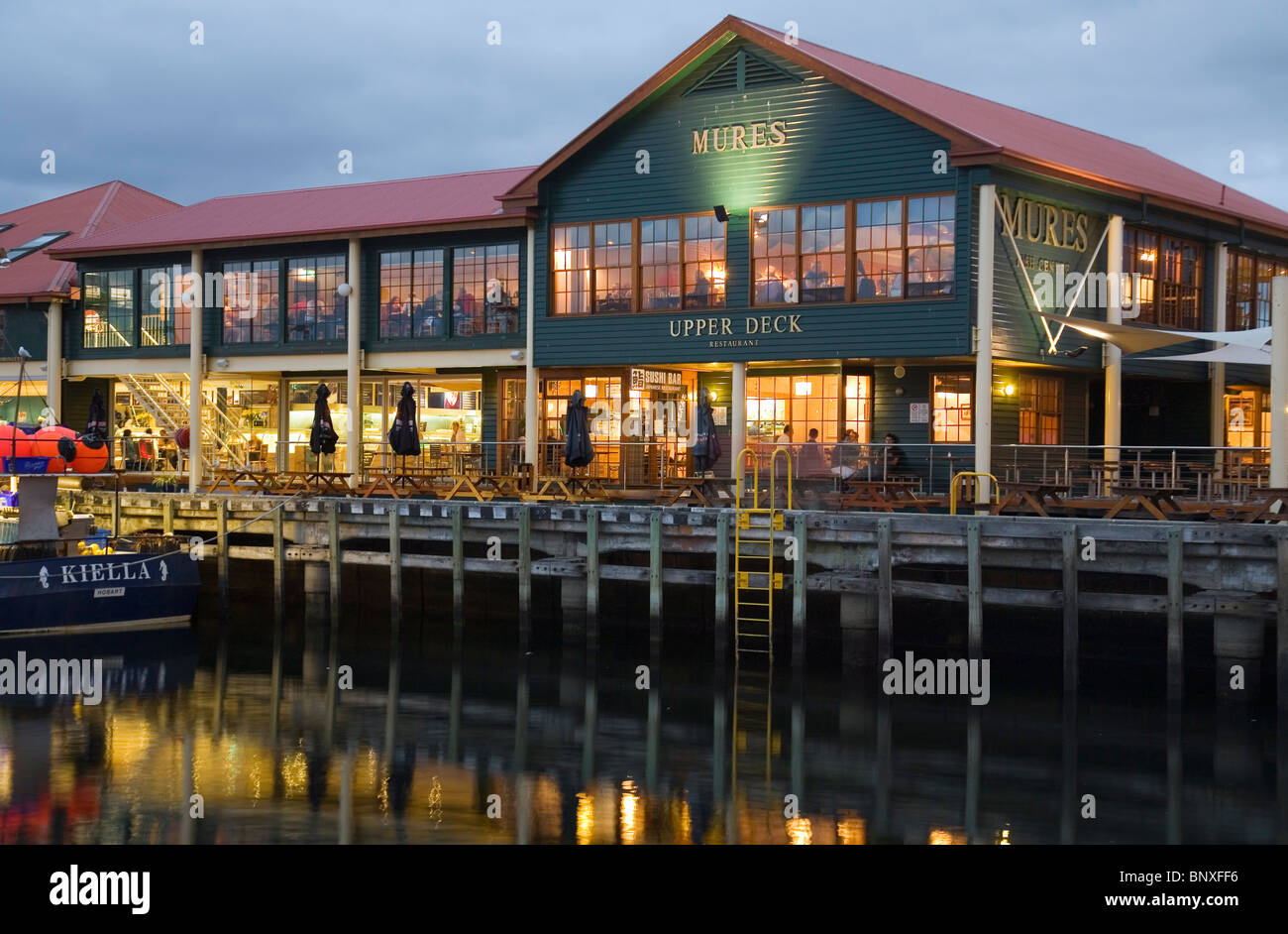 Mures - a renowned seafood bistro on Victoria Dock. Sullivans Cove, Hobart, Tasmania, AUSTRALIA - Stock Image