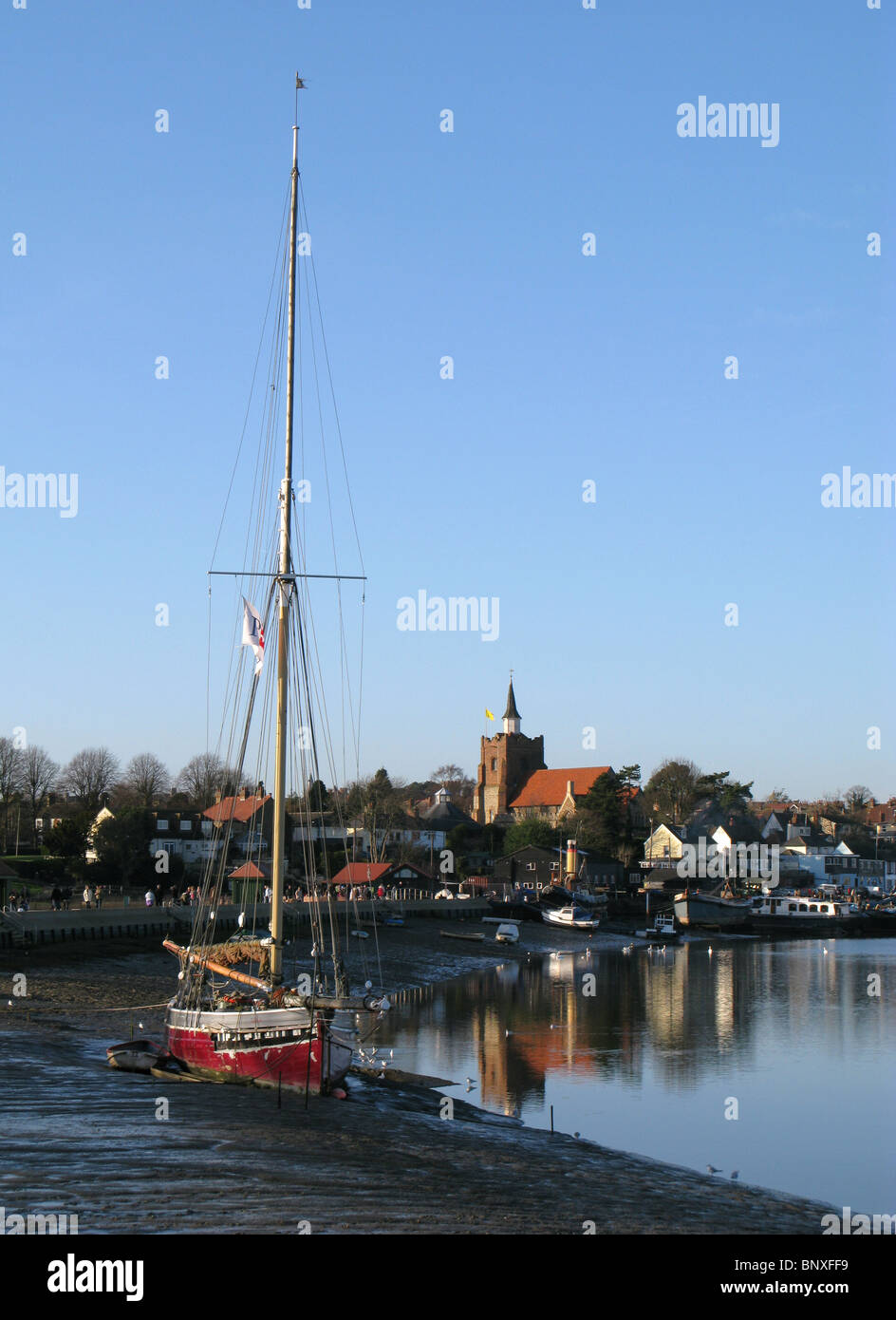 The river Blackwater in Maldon, Essex - Stock Image
