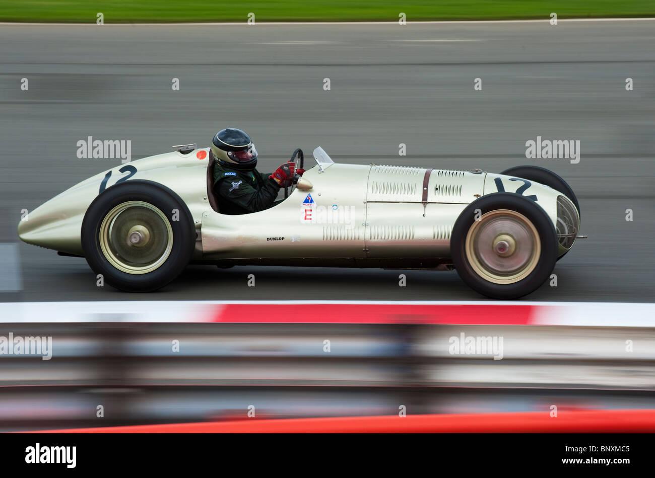 ERA GP1 Grand Prix racing car at 2010 Silverstone Classic, England - Stock Image