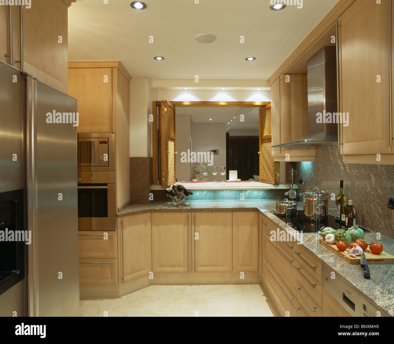 Recessed Lighting Kitchen Modern: Recessed Lighting In Spanish Kitchen Stock Photos