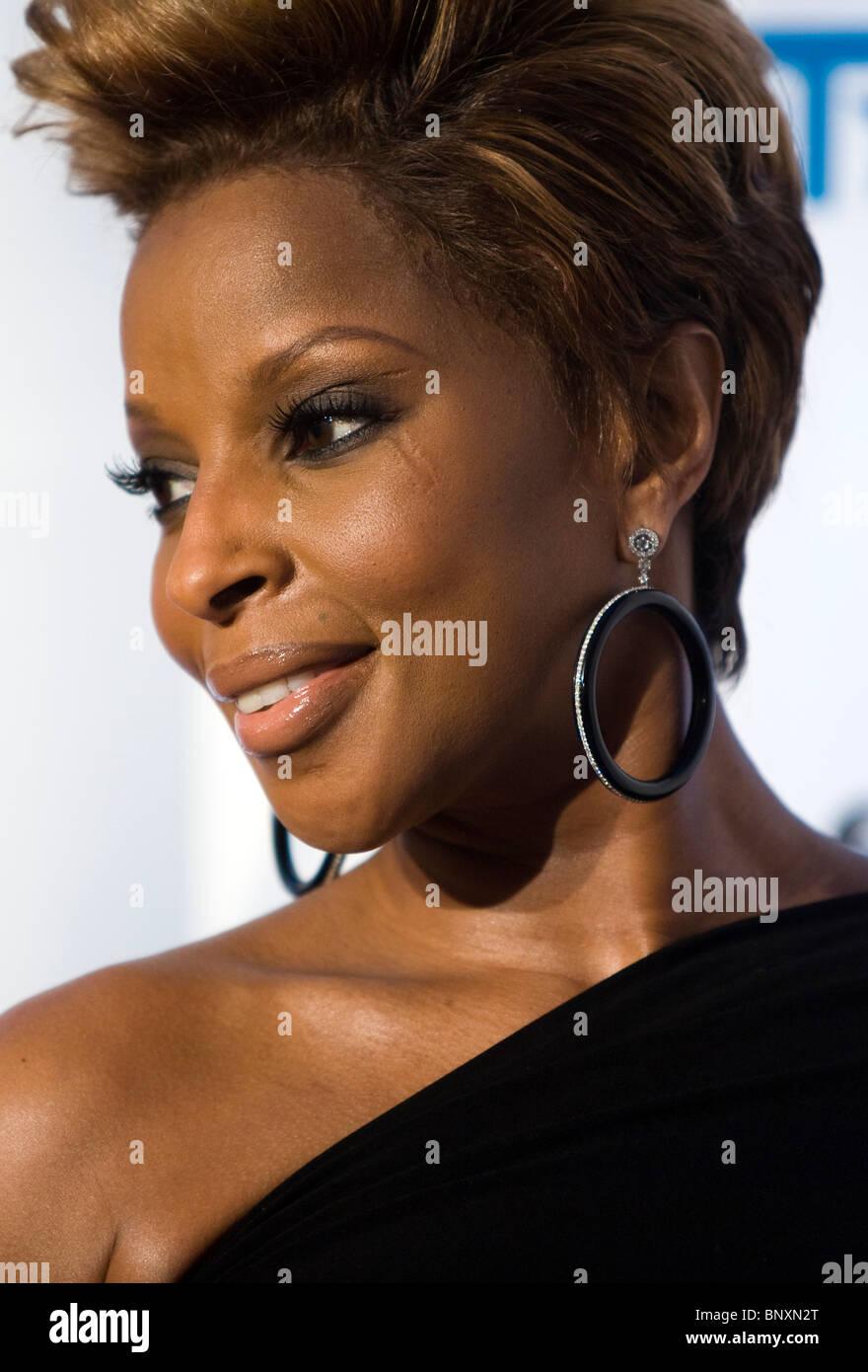 Singer Mary J. Blige - Stock Image