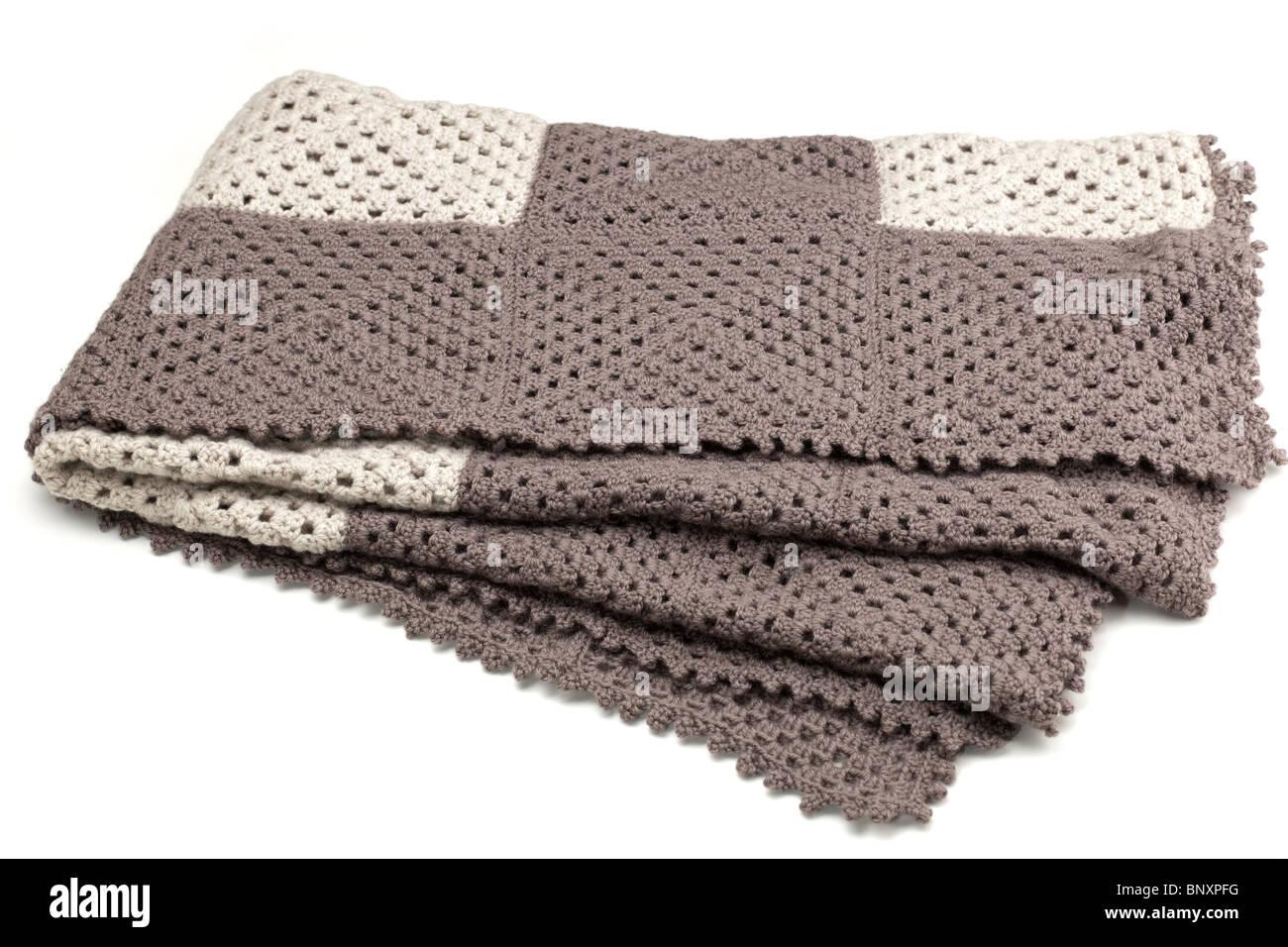 Crocheted blanket - Stock Image