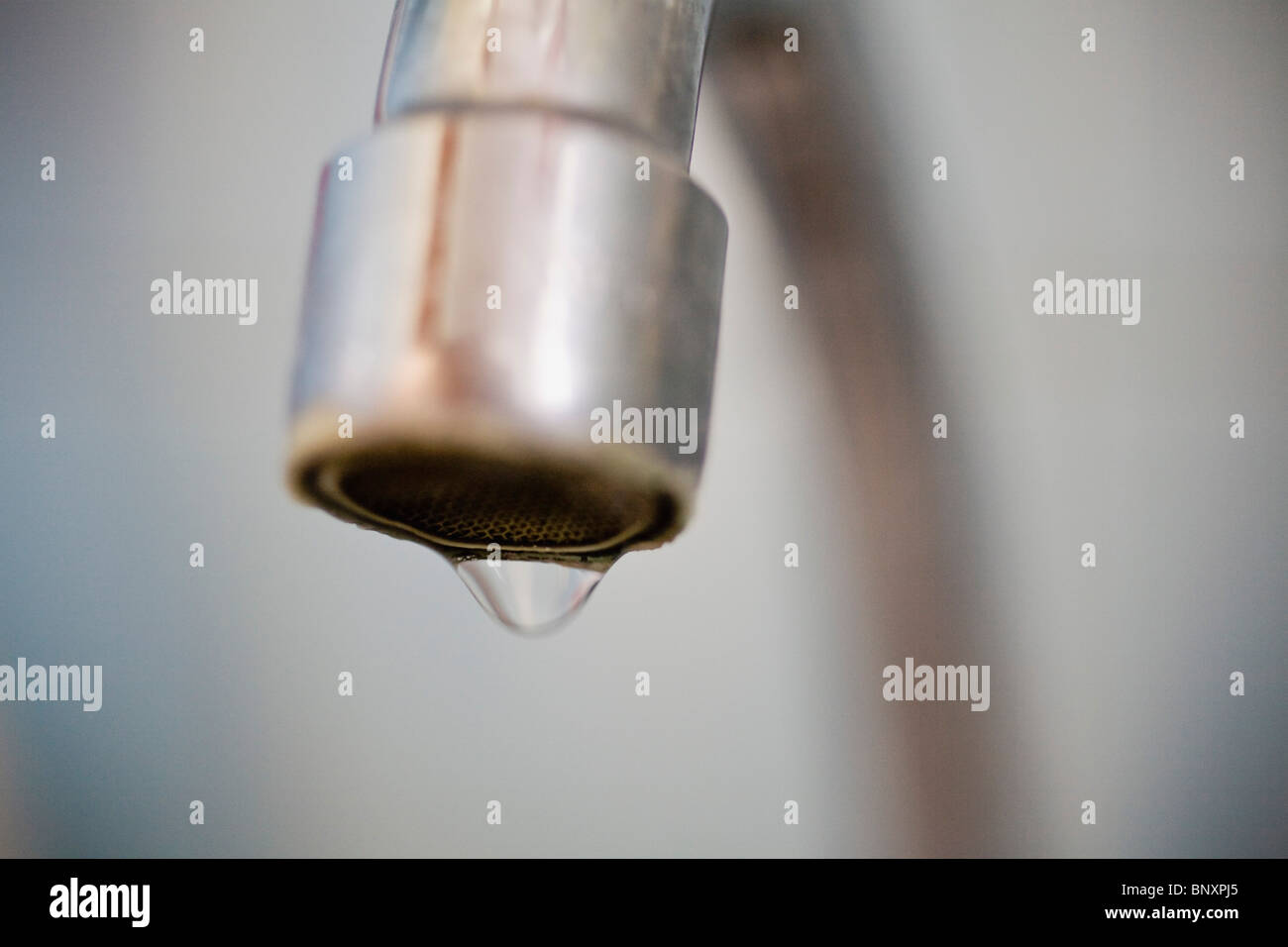 Dripping faucet - Stock Image