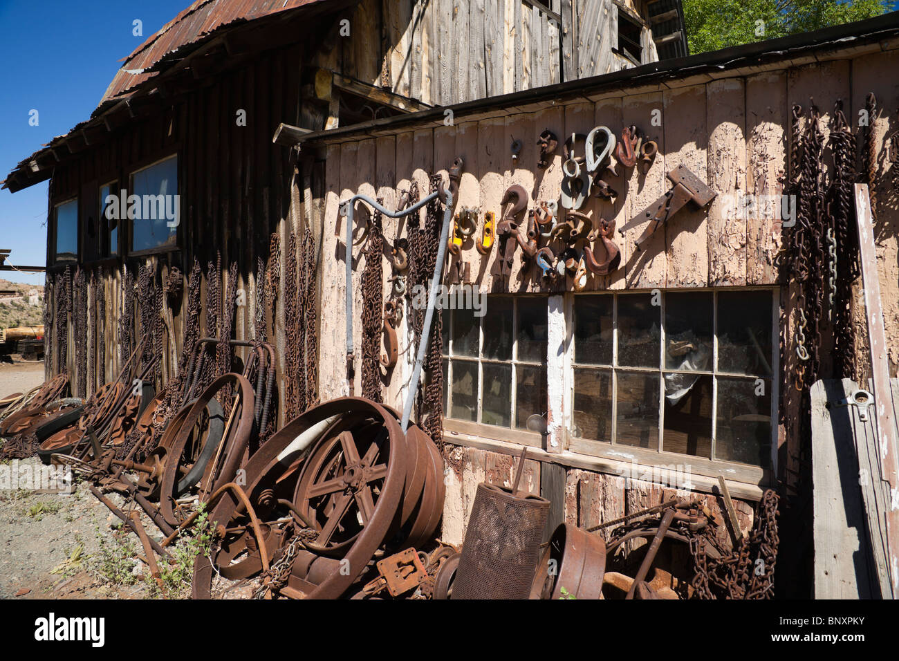 Don Robertson's Gold King Mine ghost town and antique auto yard  Old
