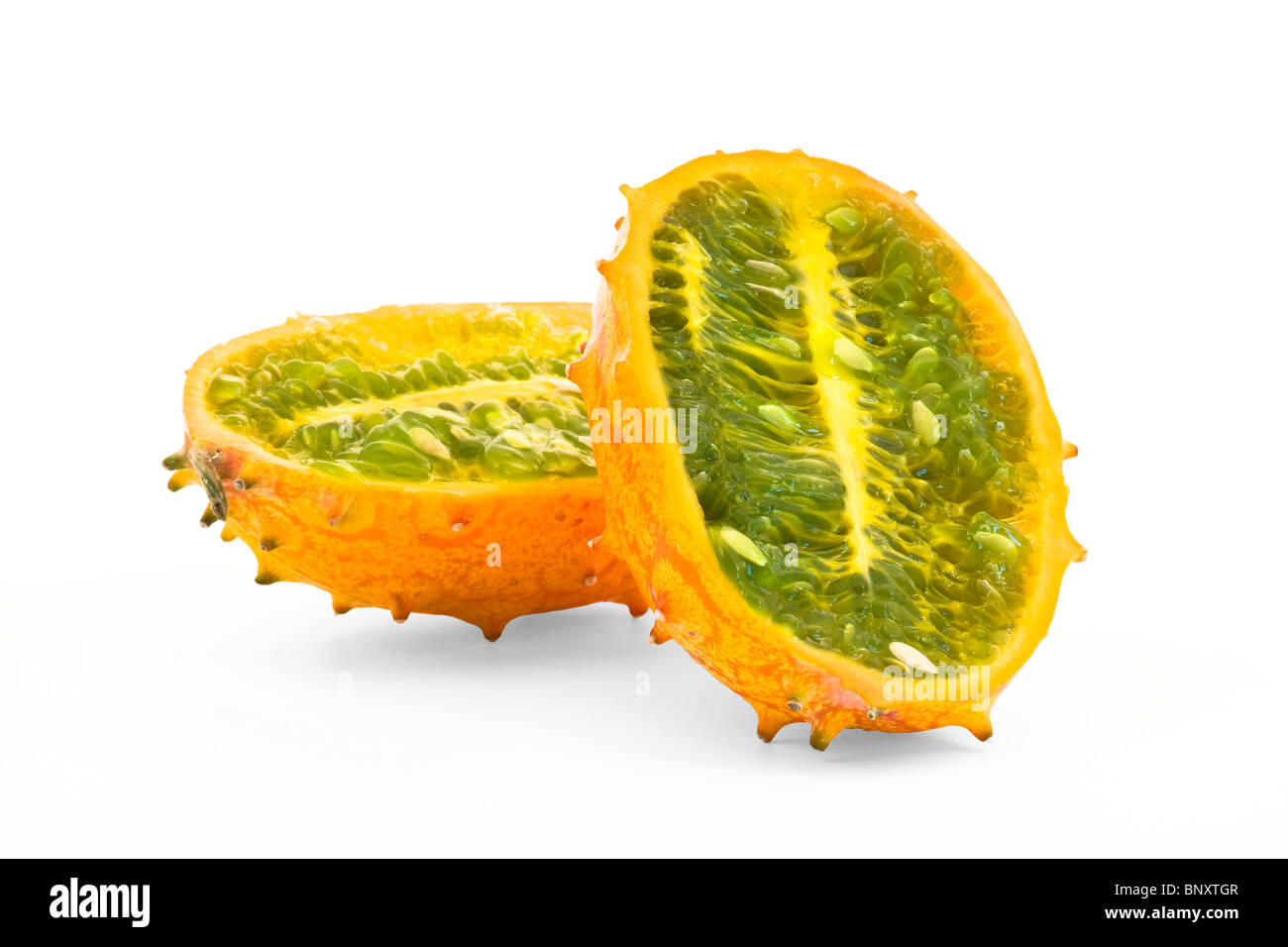 Cucumis metulifera - Kiwano - Horned Melon - Stock Image