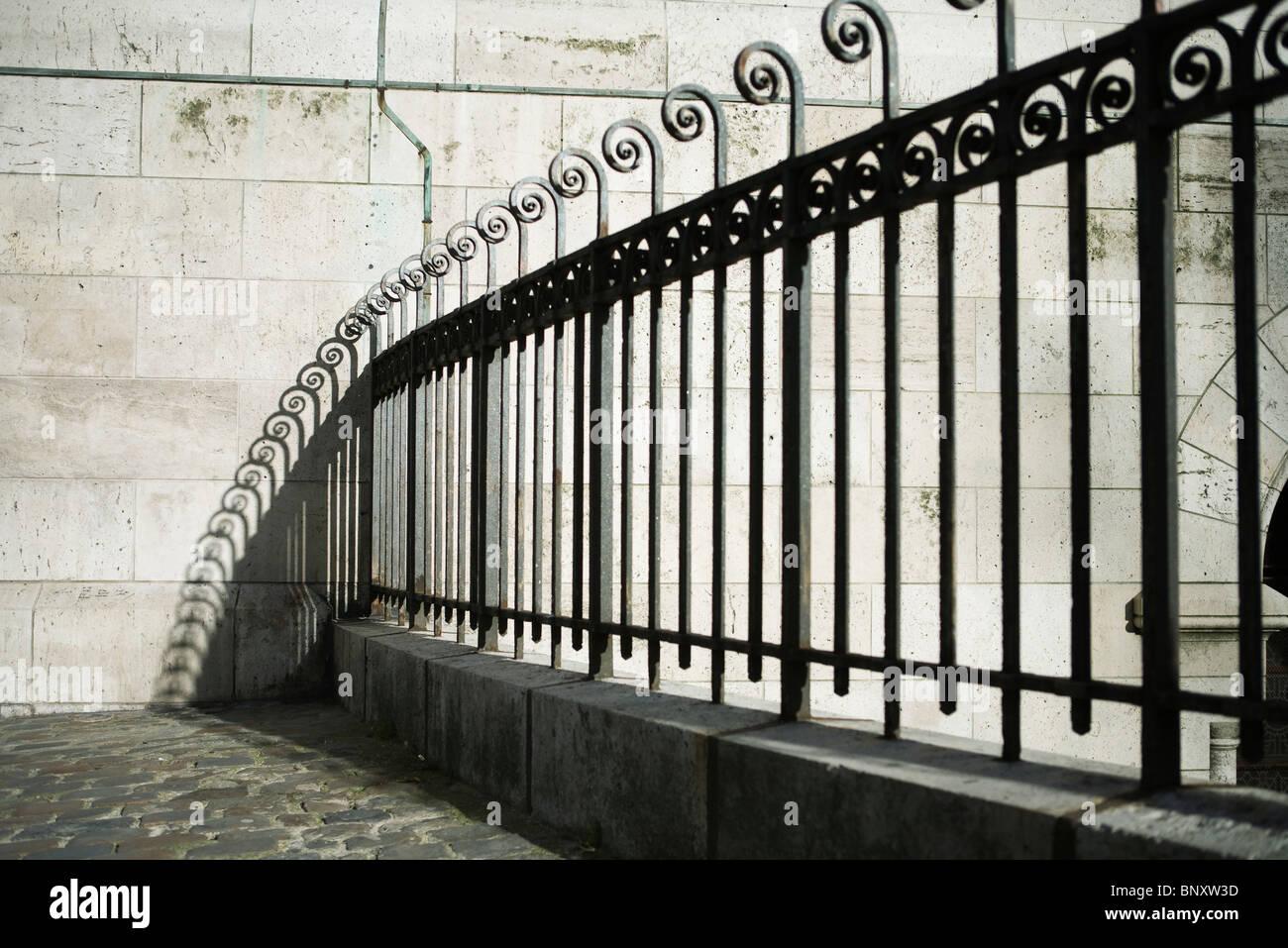 Wrought iron fence, Sacre C?ur, Montmartre, Paris, France - Stock Image