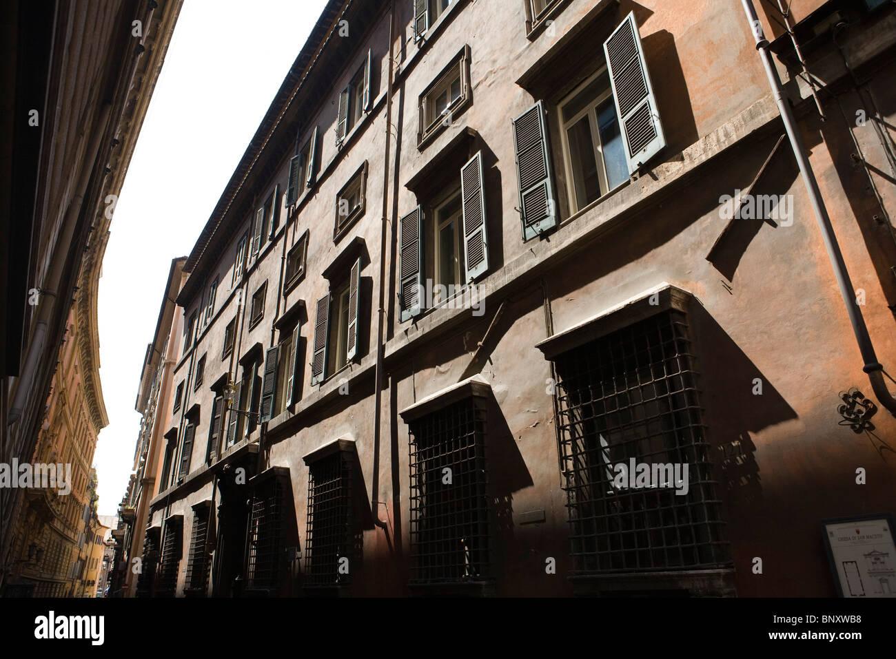 Palazzo Gabrielli-Borromeo on the via del Seminario, Rione Colonna, Rome, Italy - Stock Image
