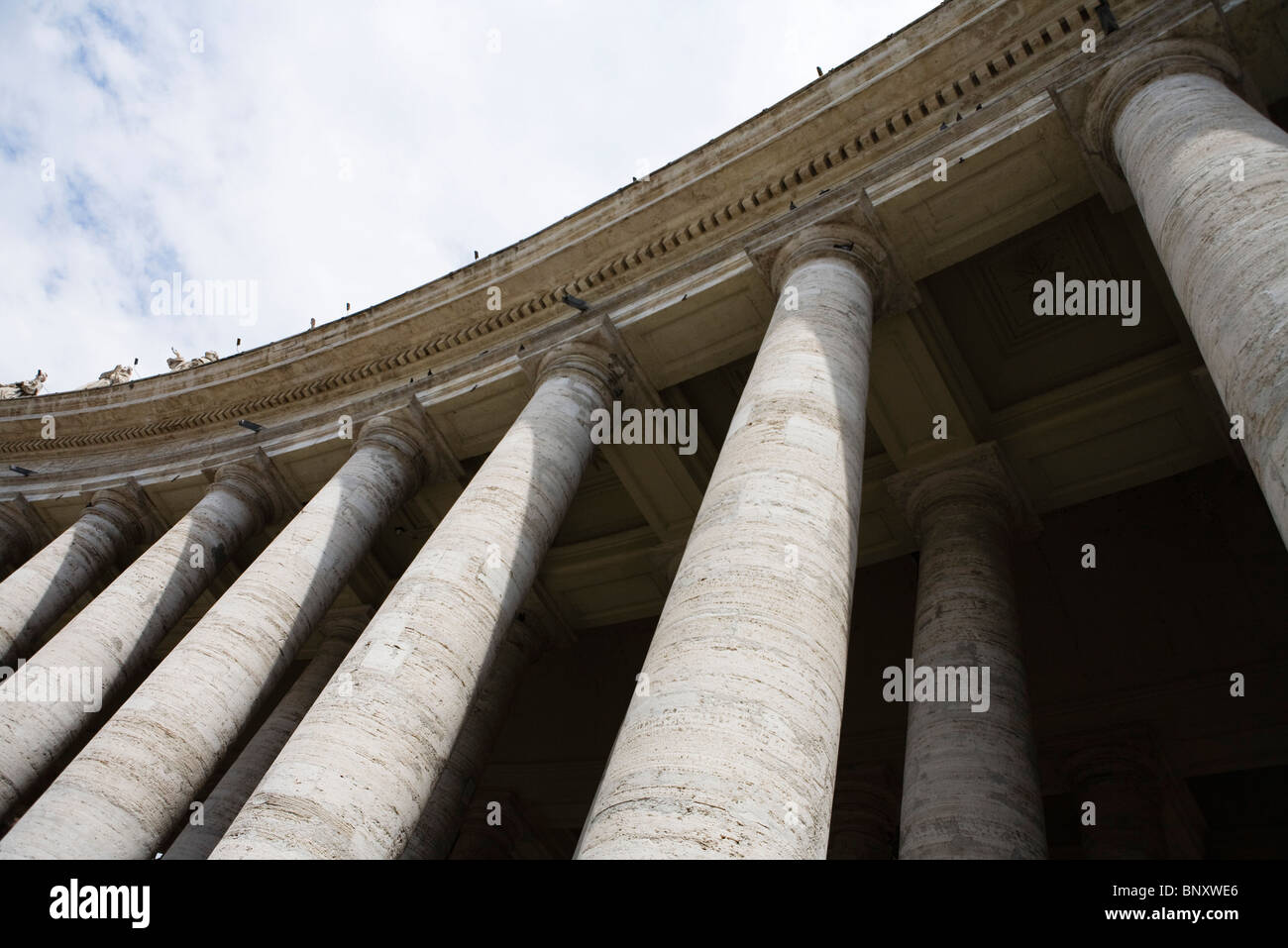 Colonnade of St. Peter's Square, Rome, Italy - Stock Image
