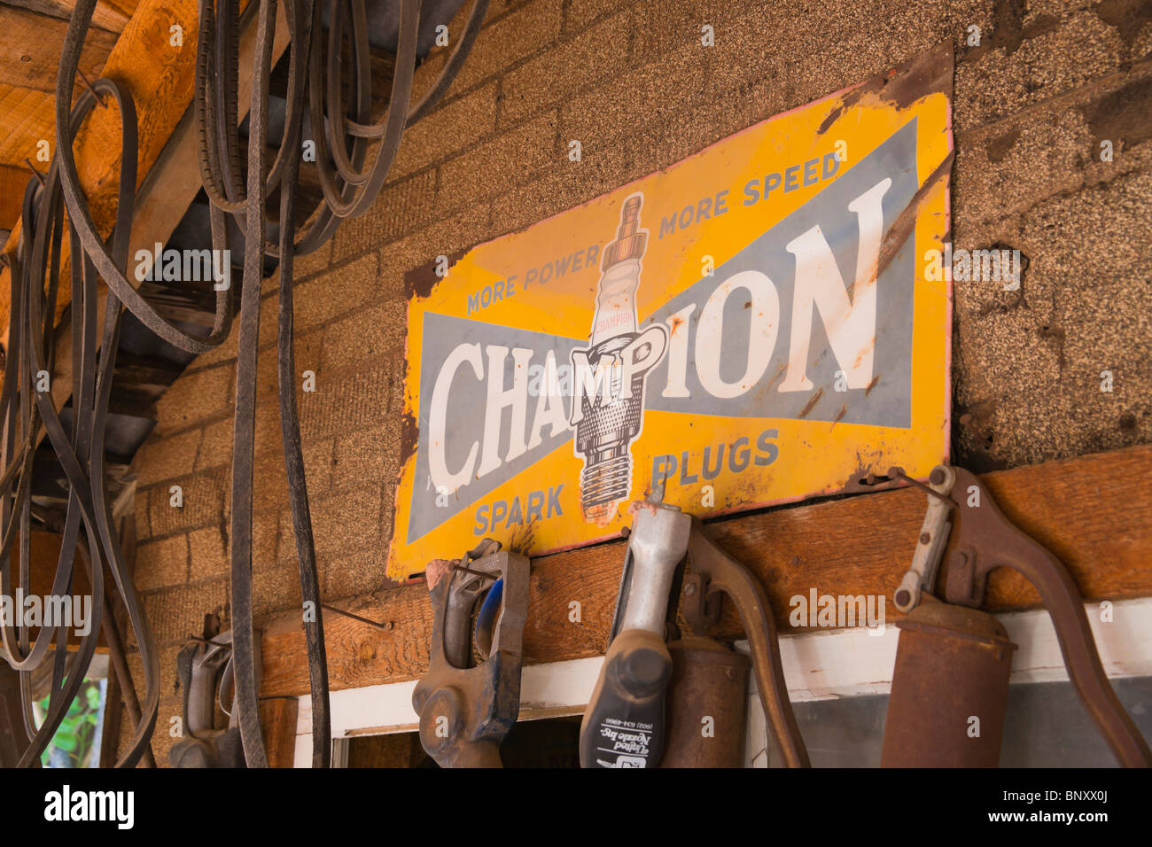 Jerome, Arizona - old copper mining town near Sedona. Don Robertson's Gold King Mine ghost town and antique - Stock Image