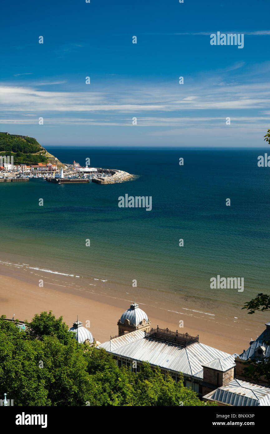 Sweeping View across South Bay at the Seaside Resort of Scarborough - Stock Image