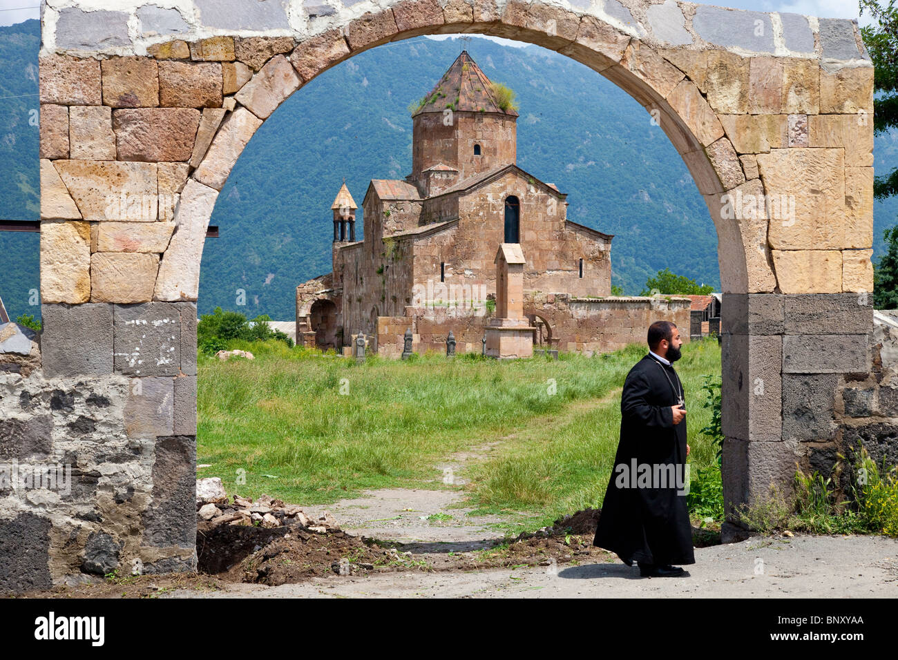 7th Century Odzun Church in Debed Canyon Armenia - Stock Image