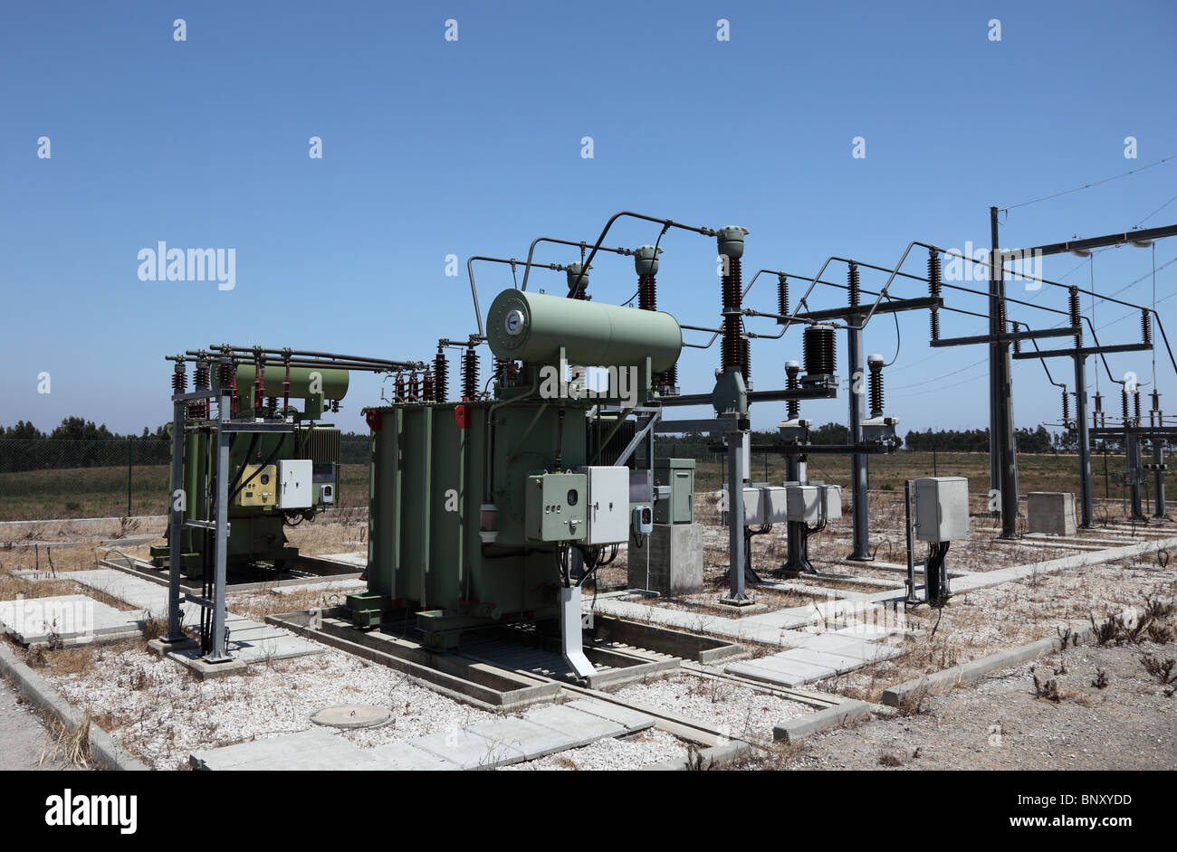 High voltage electric converter station Stock Photo: 30710441 - Alamy