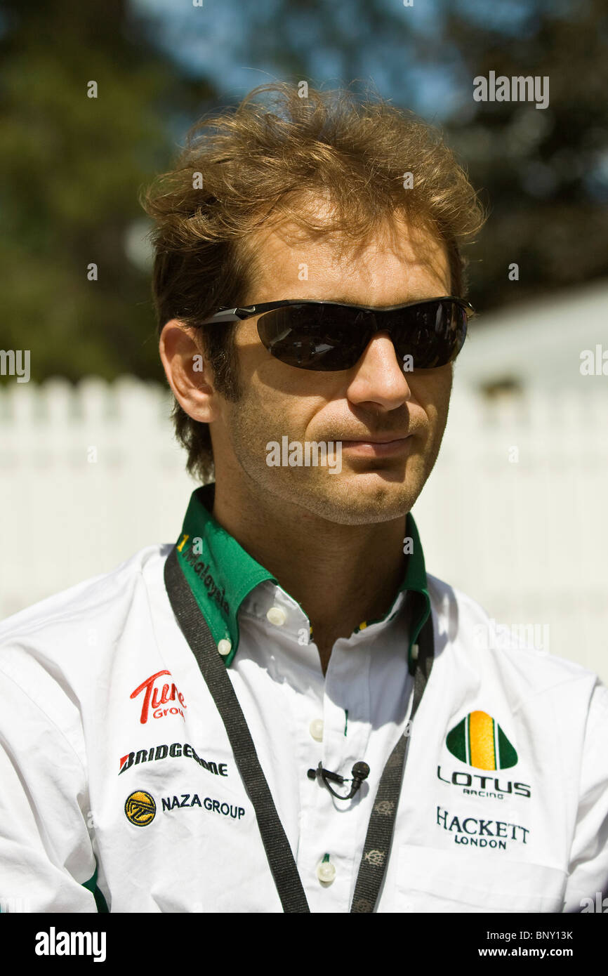 Jarno Trulli F1 racing driver taken at Goodwood festival of Speed 2010 - Stock Image