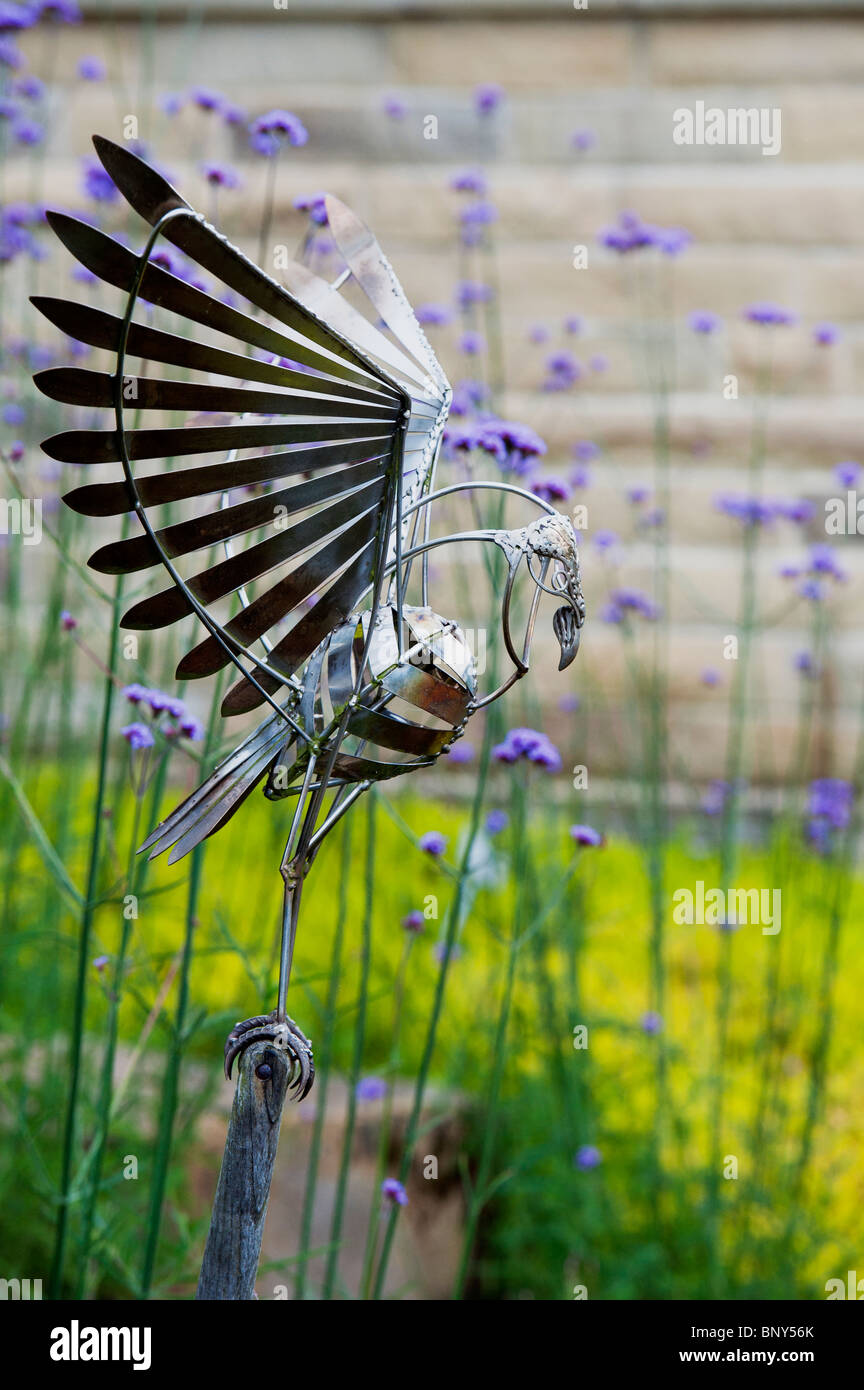 Delicieux Owl Garden Sculpture At RHS Harlow Carr, England   Stock Image