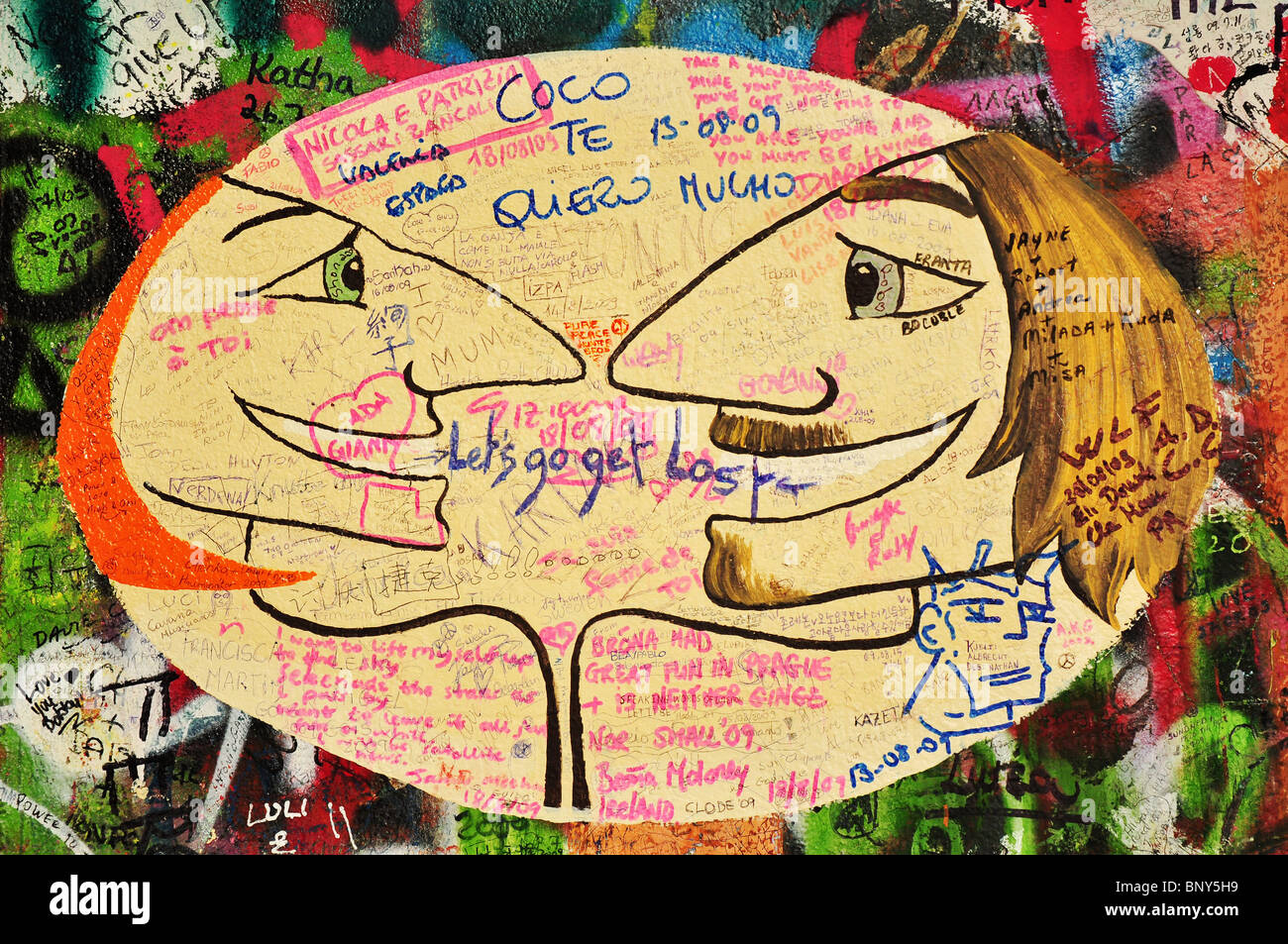 Imagine - Lennon graffiti wall in Prague Stock Photo: 30715253 - Alamy