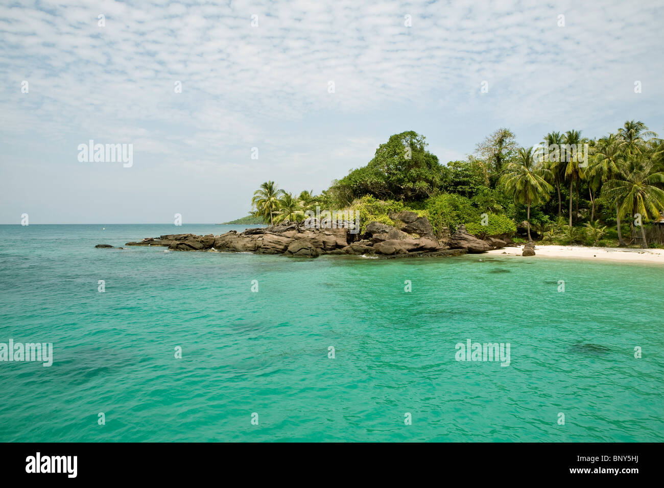 Fingernail Beach in the An Thoi islands, south of Phu Quoc island, Vietnam - Stock Image