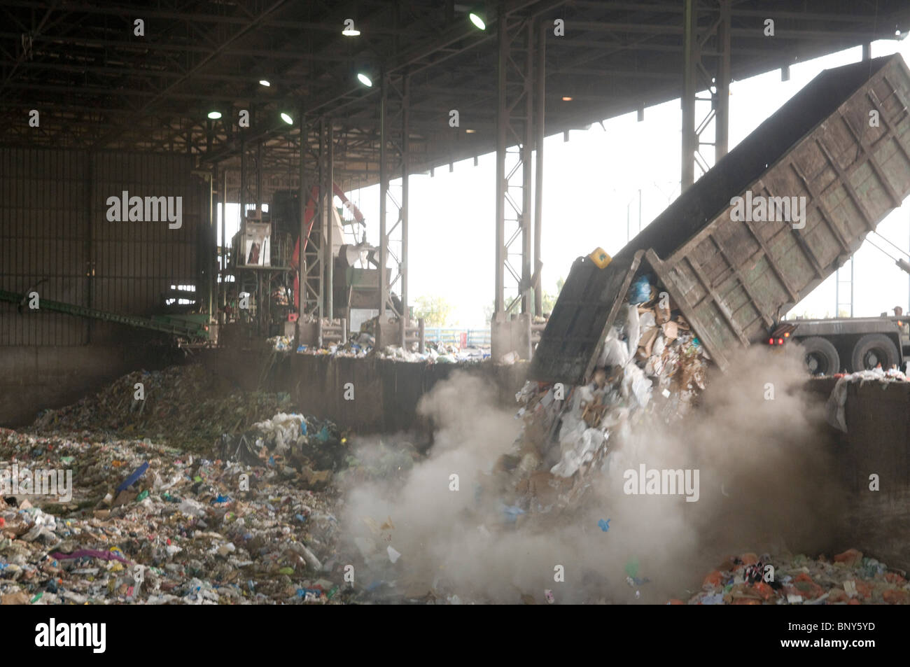 Domestic waste treatment centre - Stock Image