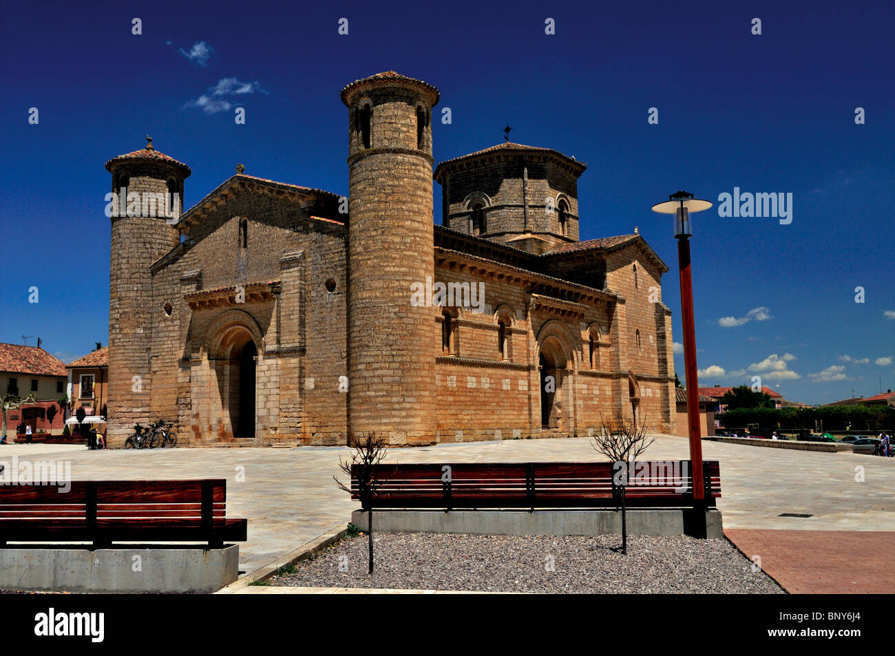 Spain, St. James Way: Iglesia de San Martin in Fromista - Stock Image