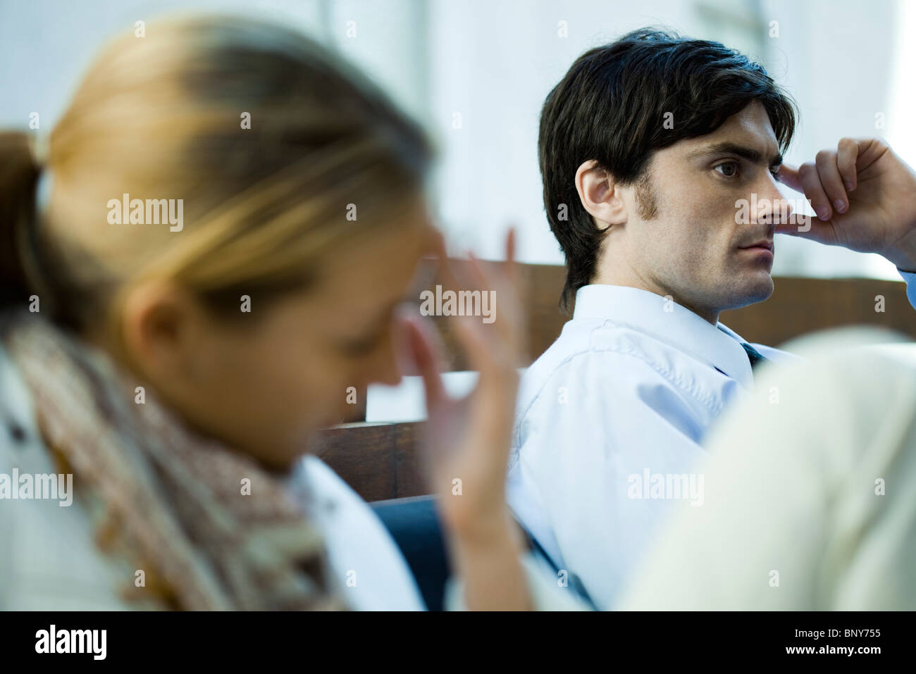 Couple experiencing relationship difficulties Stock Photo