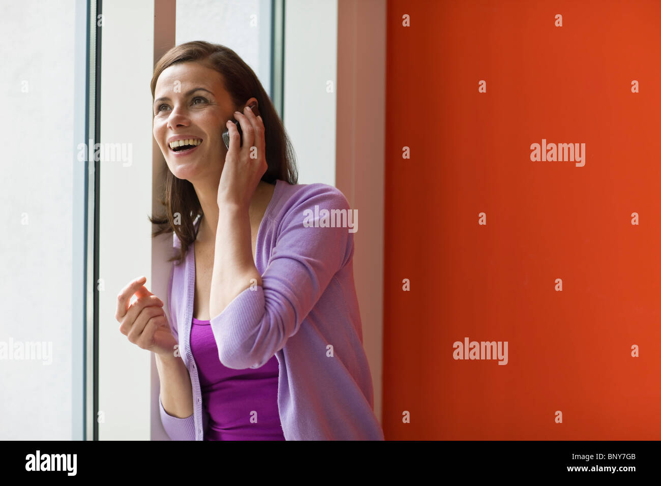 Woman phoning - Stock Image
