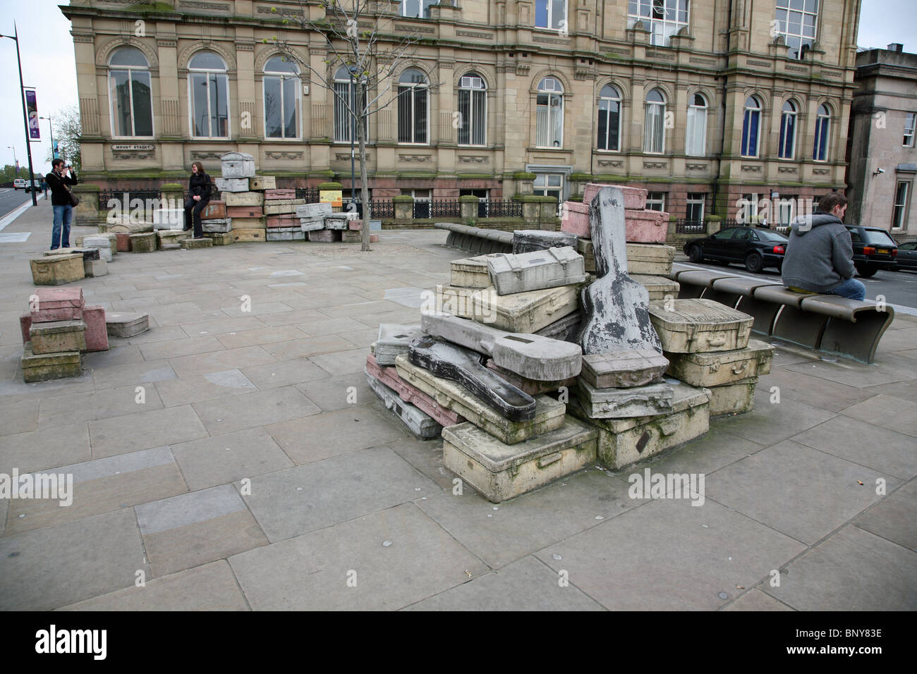 The John King street sculpture 'A Case History' in Hope Street, Liverpool, England, UK - Stock Image