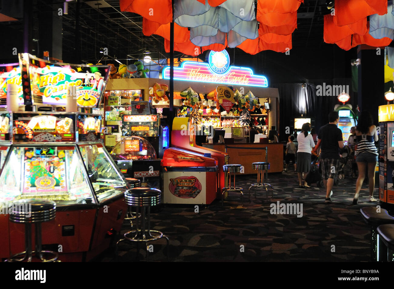 A video arcade in midtown Manhattan. - Stock Image
