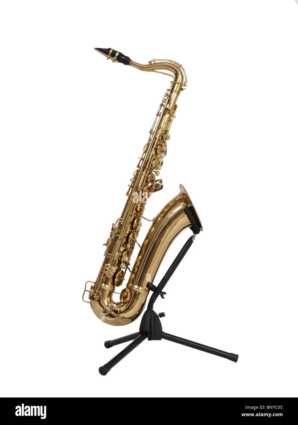 Vintage brass saxophone from the 1930's in excellent condition. - Stock Image