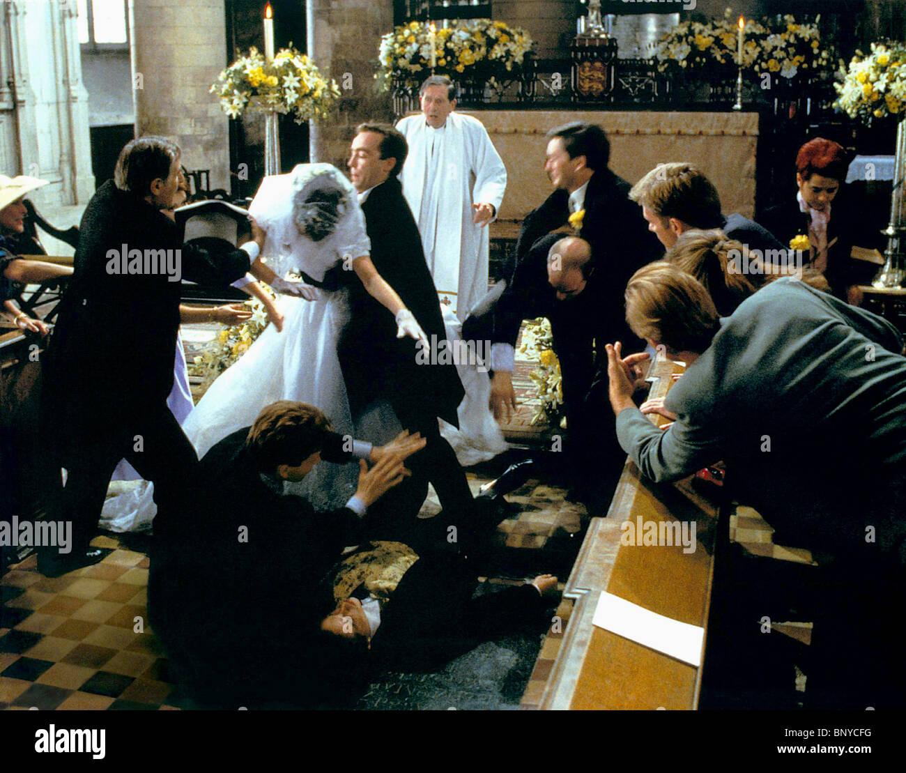 Four Weddings: ANNA CHANCELLOR JOHN HANNAH & HUGH GRANT FOUR WEDDINGS AND