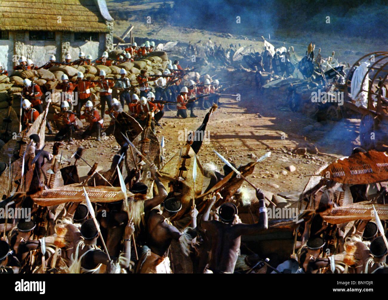 ZULU BATTLE SCENE ZULU (1964) - Stock Image