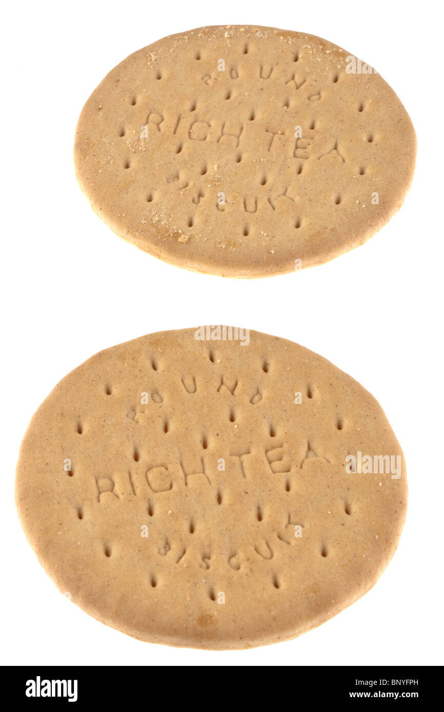 Two rich tea biscuits - Stock Image