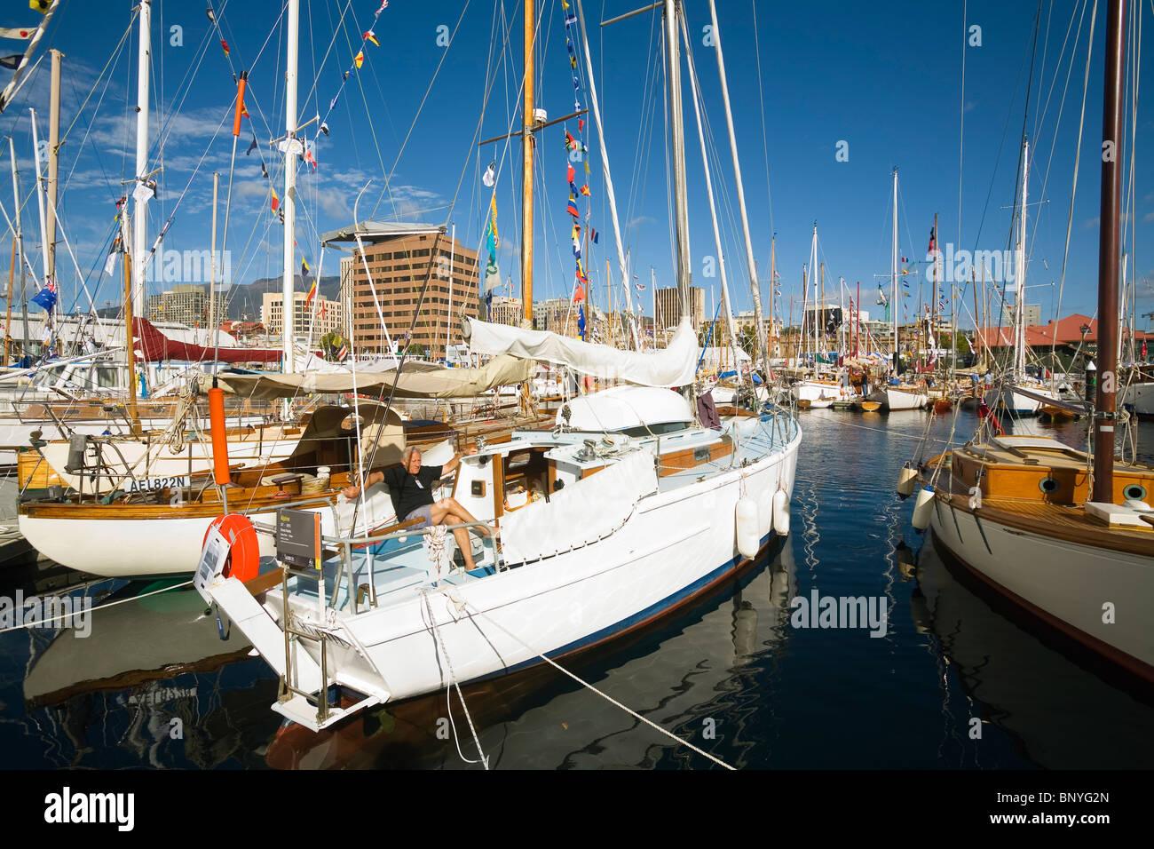 Wooden boat festival.  Hobart, Tasmania, AUSTRALIA Stock Photo